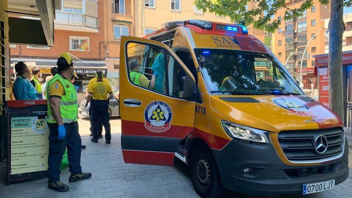 Foto de archivo de una ambulancia del Samur