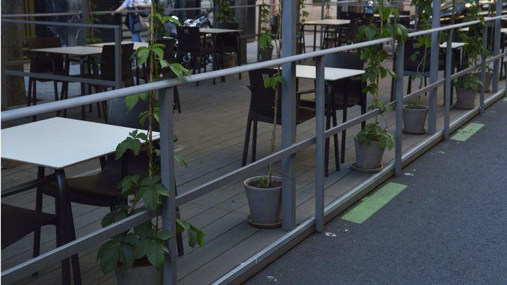 Las terrazas Covid de Madrid ocupan 1.927 plazas de estacionamiento