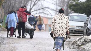 Vecinos de la Cañada tras el temporal Filomena