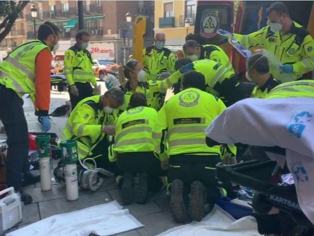 Herido atendido por Emergencias Madrid