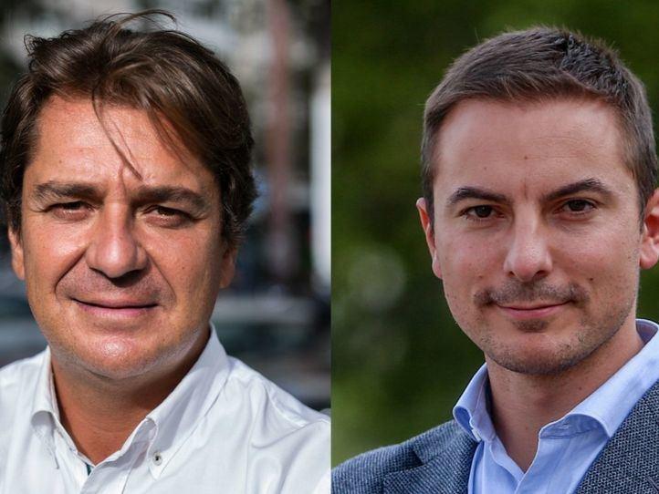 Los candidatos a la Secretaría General del PSOE-M Javier Ayala y Juan Lobato