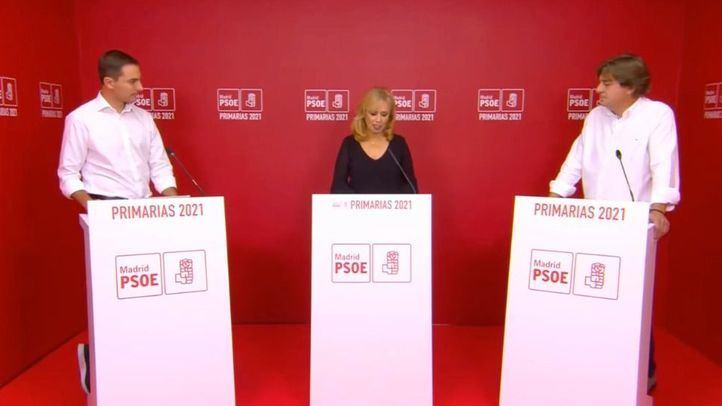 Los candidatos de las primarias del PSOE-M en el debate