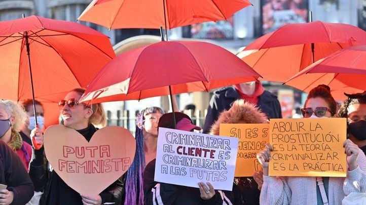 Concentración de prostitutas en la Puerta del Sol