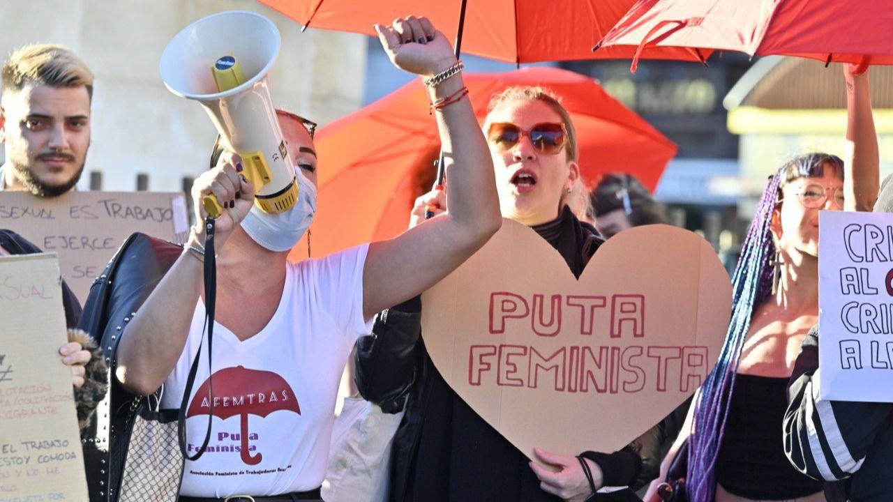 Prostitutas se concentran en Sol contra la intención del Gobierno de abolir su actividad
