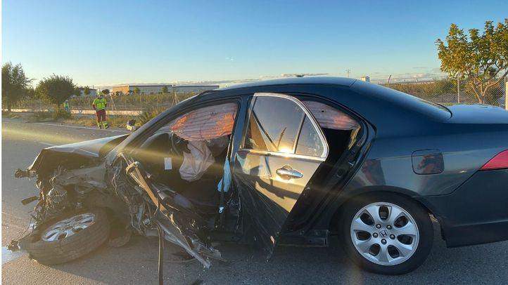 Estado en el que ha quedado uno de los vehículos accidentados.