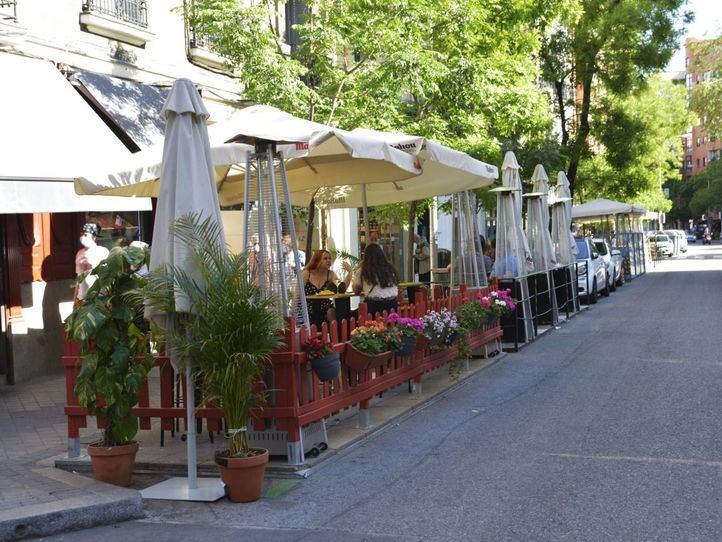 Chamberí y parte de Salamanca, libres de terrazas en aparcamientos en enero