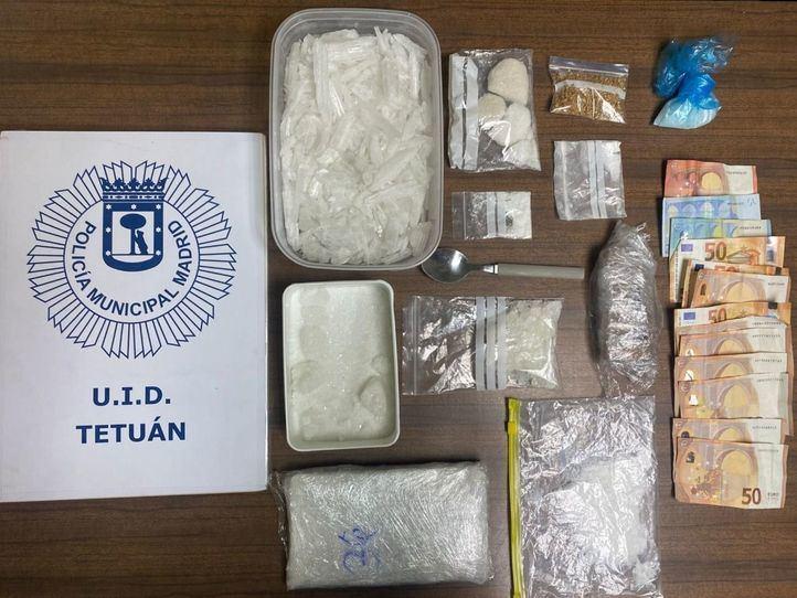 Desmontado un laboratorio y punto de venta de drogas en Tetuán