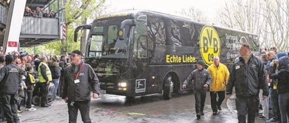 Autobús del Borusia Dortmund.