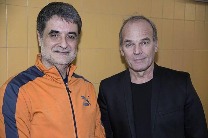 Esteve Ferrer con el autor Laurent Baffie