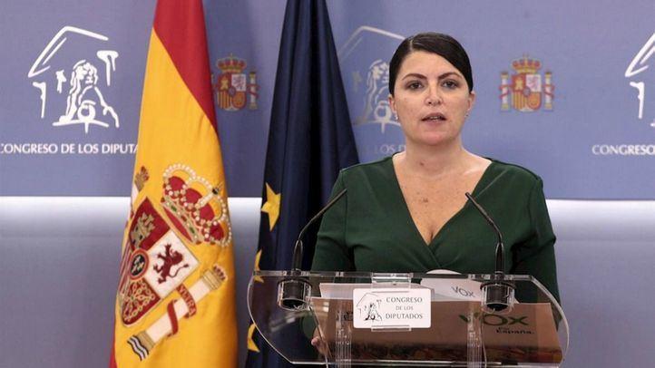 La diputada y coportavoz parlamentaria de Vox, Macarena Olona