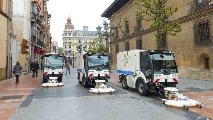 Limpieza viaria de Oviedo.