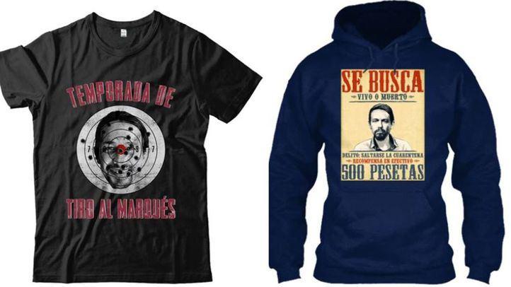 Denunciada una tienda online por vender camisetas que incitan a la violencia contra Pablo Iglesias