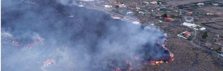 Volcán de La Palma: la lava funde un suministro de agua y deja a más de 2.000 personas desabastecidas