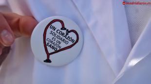 Campaña 'Corazones Solidarios', desarrollada por el colegio Los Robles dentro del programa 'Valores de Futuro' de BBVA.