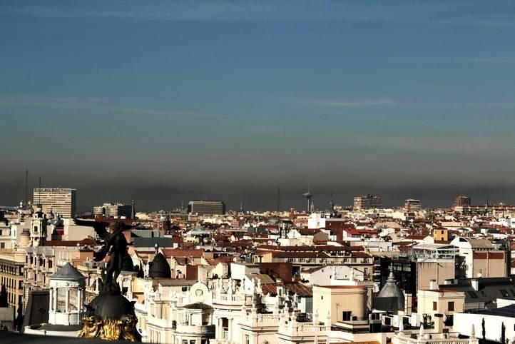 La boina de contaminación sobre la capital
