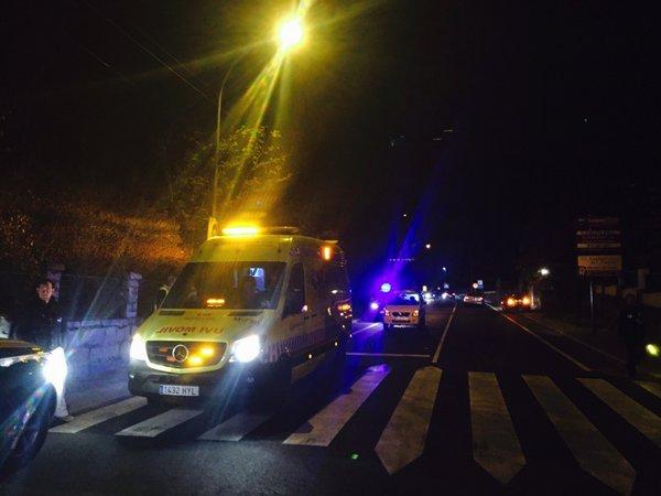Atropellado un niño de 13 años cuando cruzaba por un paso de peatones en Moralzarzal