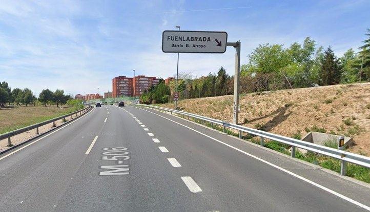 Rescatado un camionero tras sufrir un accidente en Fuenlabrada