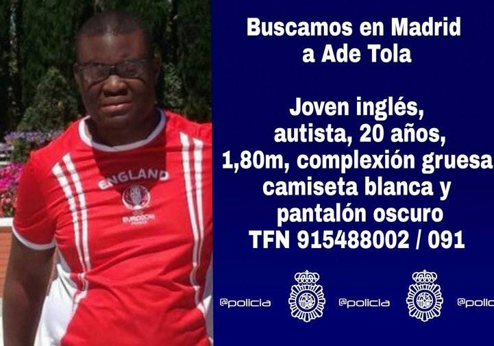 Desaparece en San Fernando un joven inglés que padece autismo