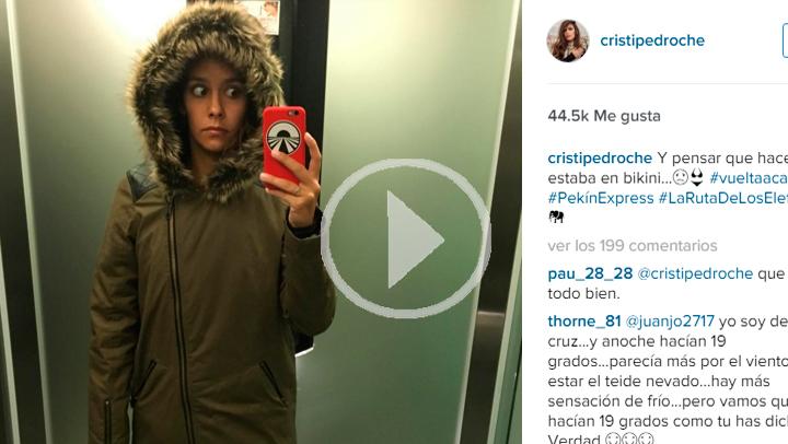 Cristina Pedroche, de vuelta en Madrid después de grabar Pekín Express