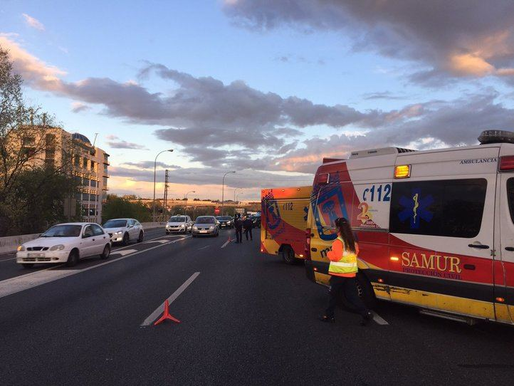 Un accidente en cadena en la M-40 deja 11 heridos leves