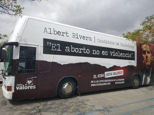 Autobús contra el líder de Ciudadanos, Albert Rivera.
