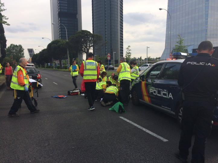 Un anciano, herido grave en un atropello en la Castellana