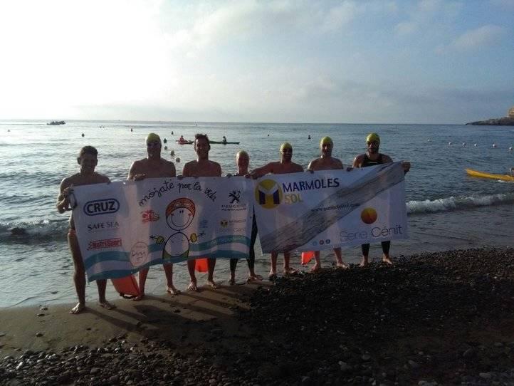 Nadadores en el reto #MójatePorLaVida
