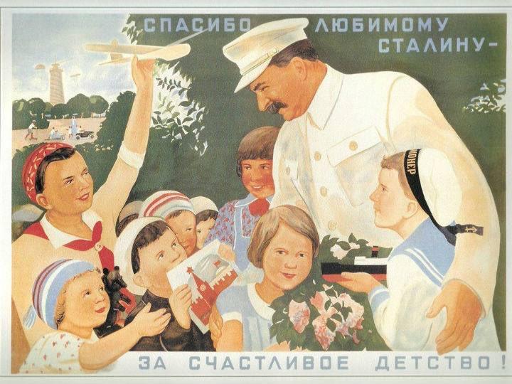 Imagen de Joseph Stalin con niños que ha publicado el PP de Madrid en Twitter