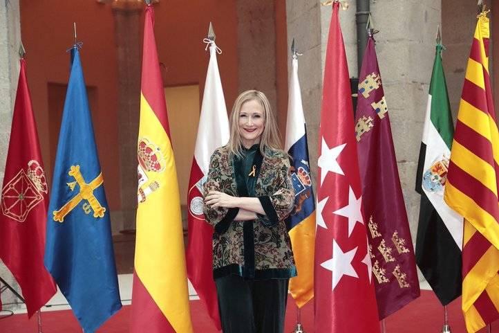 Cristina Cifuentes, en los actos del Día de la Constitución de este martes en la Real Casa de Correos.