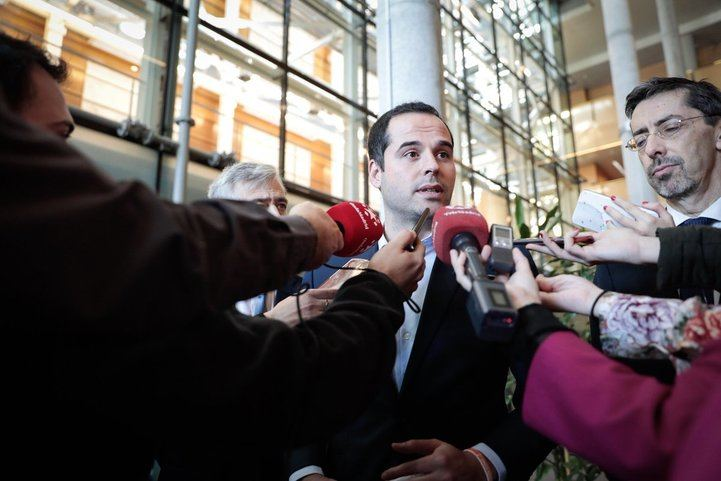 Ignacio Aguado, este jueves en la Asamblea de Madrid