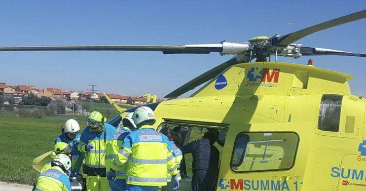 Rescate en helicóptero del herido