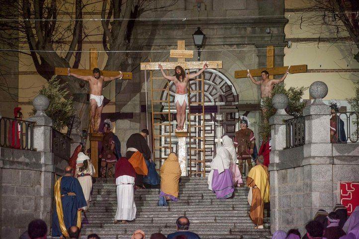 Pasión de Cristo representada por la asociación cultural 'El Nazareno'.