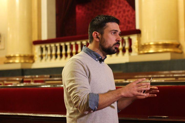 Ramón Espinar, en el Senado
