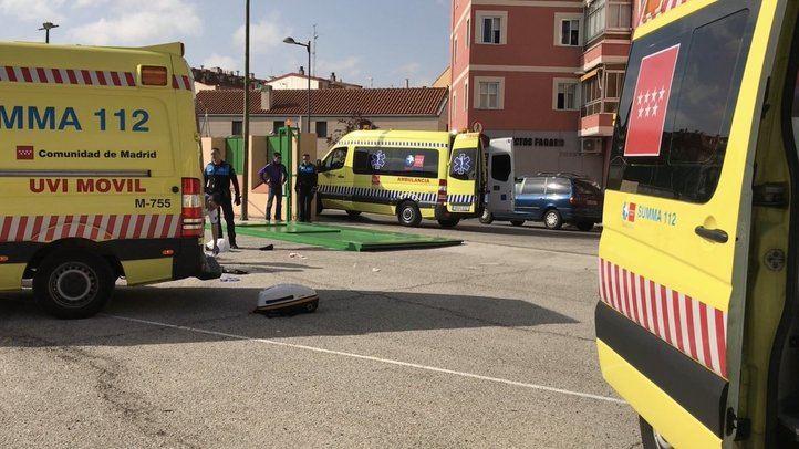 Equipos de emergencias en el CEIP La Inmaculada