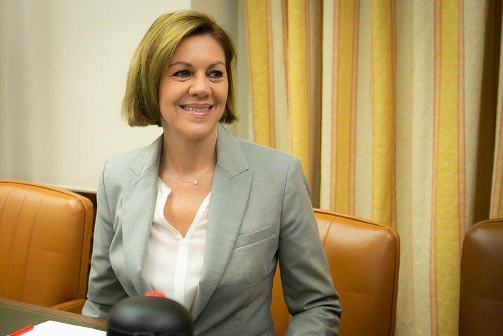María Dolores de Cospedal comparece en el Congreso por la presunta financiación irregular del PP.