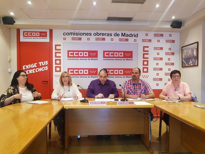 Rueda de prensa CCOO en 010-LíneaMadrid