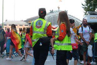 Más de 500 efectivos de Samur Protección Civil  trabajaron durante el desfile del Orgullo 2018.