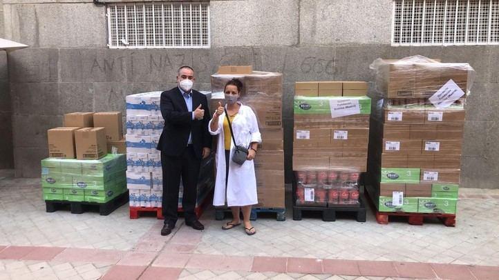 Donación alimentos de primera necesidad y pañales a la Fundación Madrina. (Foto: Mercadona)