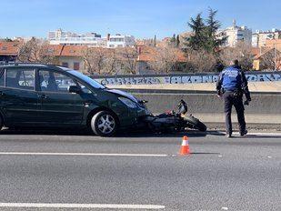 Accidente en la M-30 a la altura de Ciudad Lineal.