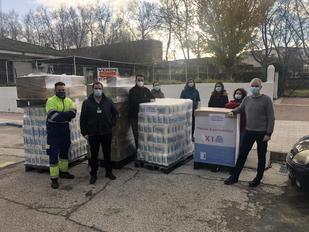 Mercadona dona 1.300 kilos de productos de primera necesidad a Cáritas Collado Villalba