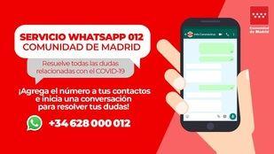 La Comunidad habilita un número para dudas a través de Whatsapp