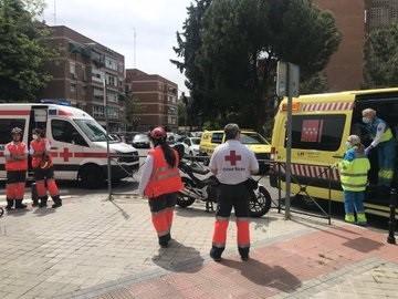 Herida una mujer con quemaduras graves por un incendio en Leganés