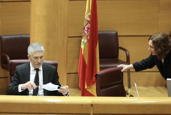 Marlaska defiende que ni él ni nadie de la Guardia Civil solicitó el informe sobre el 8M