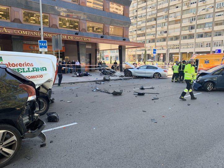 Accidente de tráfico en el barrio de Tetuán