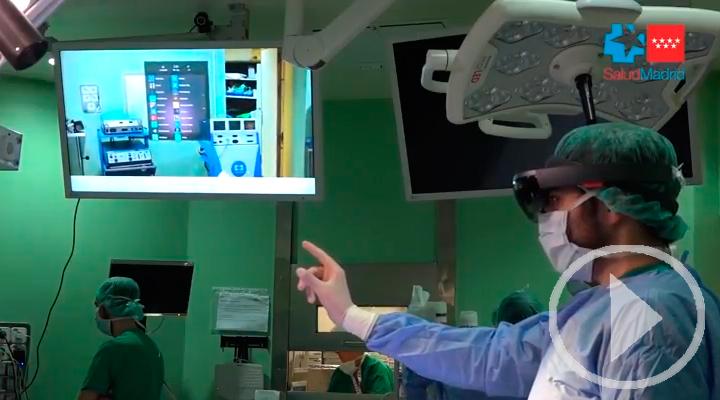 Gafas de realidad virtual en quirófanos
