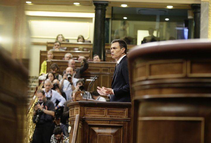 Pedro Sánchez, en su intervención
