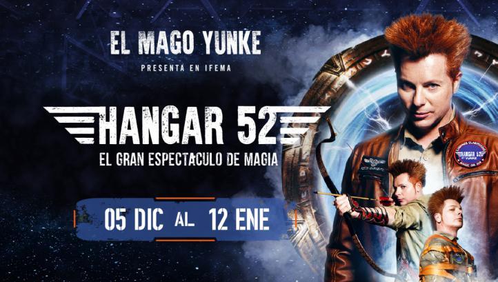 Cartel promocional de Hangar 52.