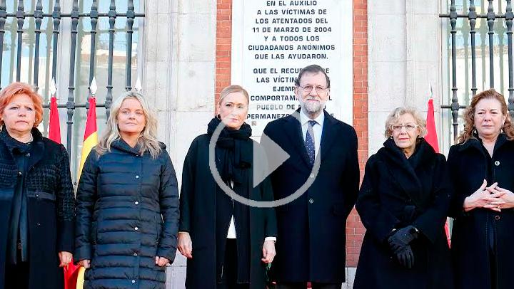 Homenaje a las víctimas del 11M en la Casa de Correos