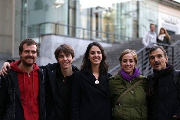 Miembros de Adelante Podemos tras perder las primarias de Podemos