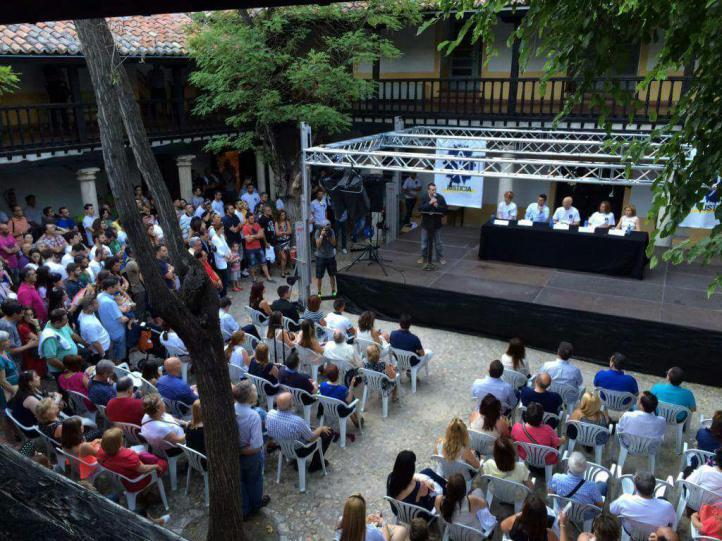 Acto de apoyo a los agentes en el Hospitalillo de Getafe, 2015
